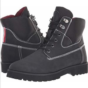 Womens•Tommy Hilfiger Poma•Combat•Black•Boots•NEW